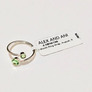New Alex and Ani AUGUST Wrap Ring Sterling Silver